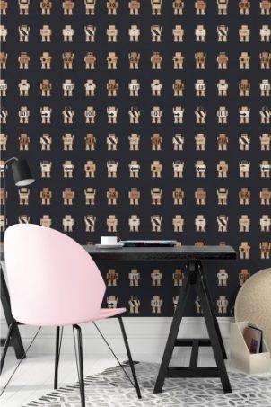Haal een stukje cultuur in huis met het unieke rijkswachters behang van Kek Amsterdam