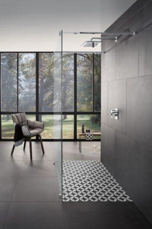 Villeroy & Boch douchevloeren met decors van Edward van Vliet