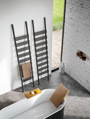 Introductie nieuwe designradiator Iskol vermomd als ladder
