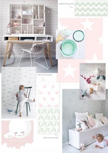 Interieur inspiratie eigentijds scandinavisch behang voor de kinderkamer - Behang voor volwassen slaapkamer ...