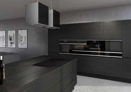 keuken zwart oven