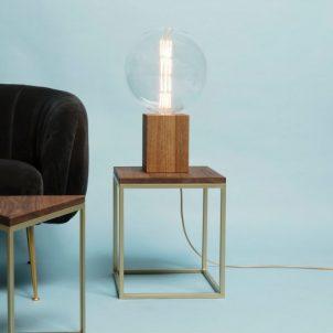 The Duke, massief houten tafellamp