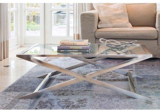 zilveren salontafel
