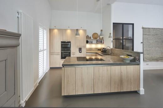 keuken inspiratie hout beton