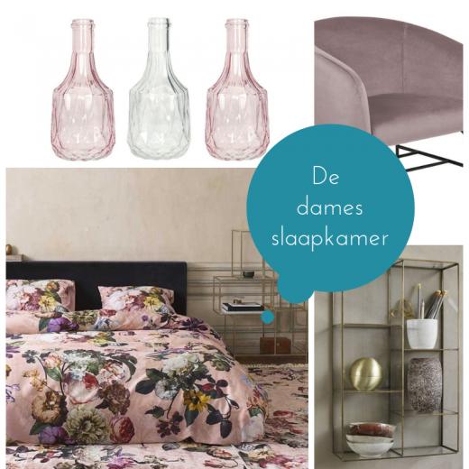 Wooninspiratie, de roze bloemen slaapkamer