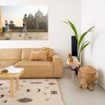 Wanddecoratie met een kleurrijk en werelds karakter in de Colourful Camel collectie van Werk aan de Muur