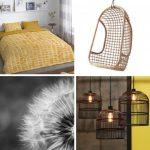 Slaapkamerinspiratie, zonnige gele slaapkamer