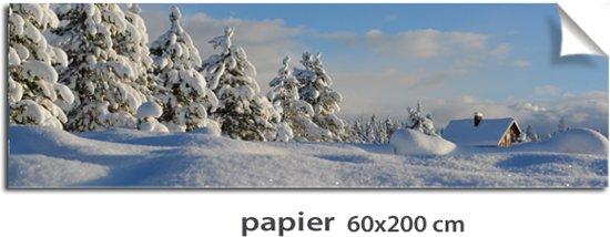 Kerstdorp achtergrond berglandschap berghut