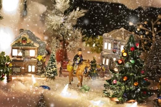 kerstdorp inrichten
