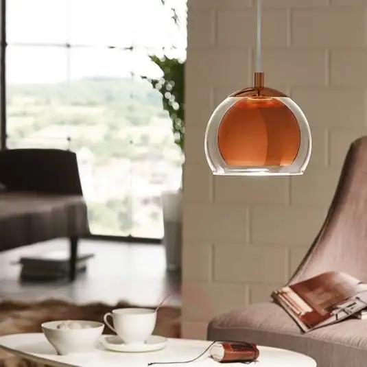 koperkleurige hanglamp
