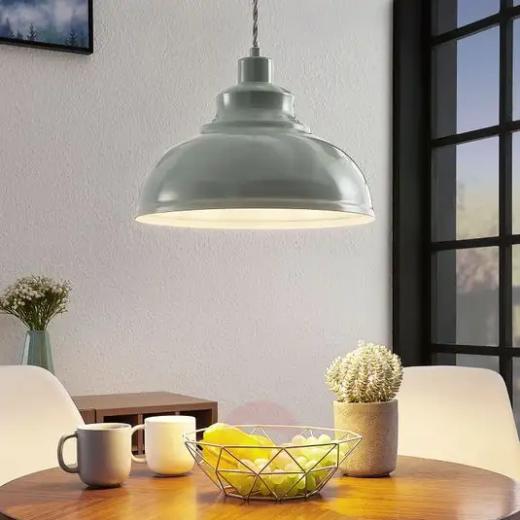Vintage blauwe hanglamp