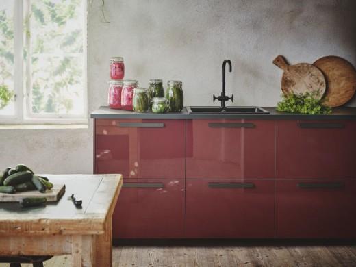 ikea keuken rood