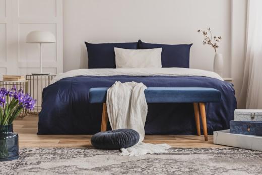 hoe een blauwe slaapkamer inrichten