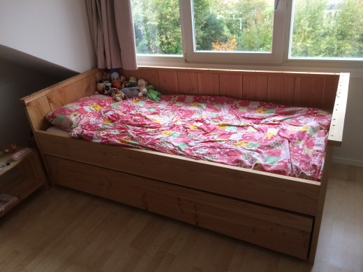 Steigerhout bed kind