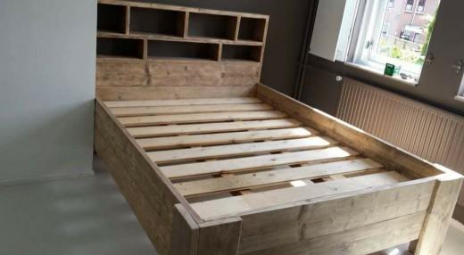 Steigerhout bed tweepersoons