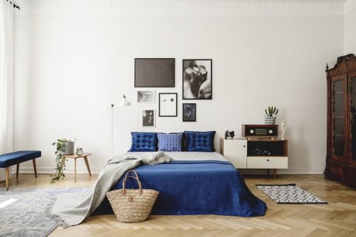blauw slaapkamer inrichten