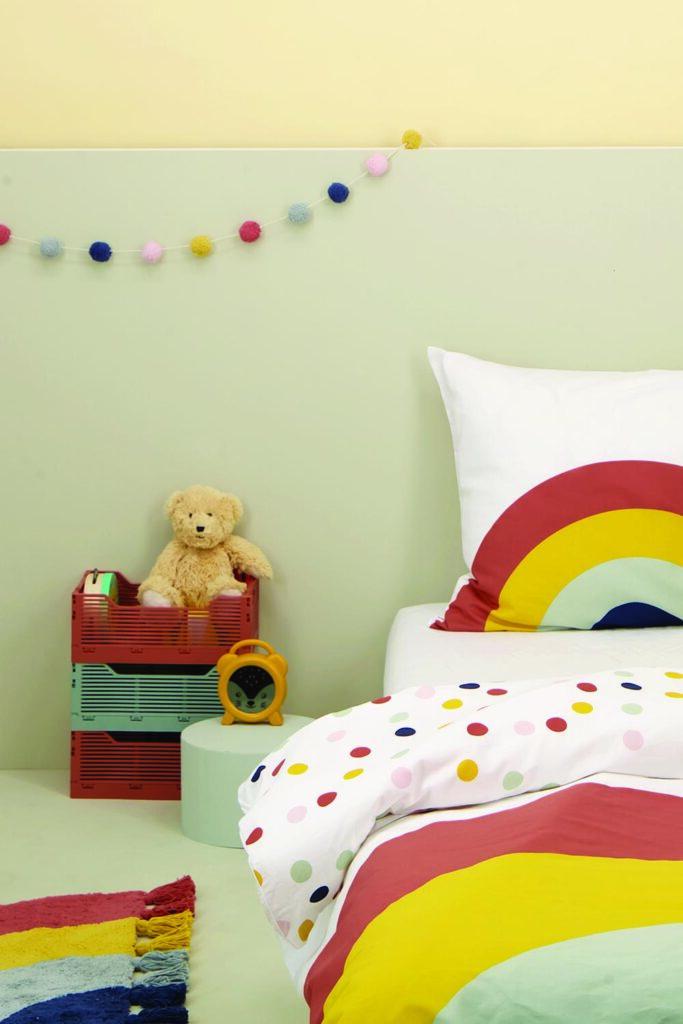hema regenboog beddengoed